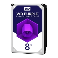 "WD Purple WD81PURZ 8TB 3.5"" 5400RPM 64MB Cache SATA III Surveillance Internal Hard Drive"
