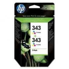 Original 343 2-pack Tri-colour Inkjet Print Cartridges CB332EE
