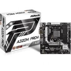 ASRock A320M Pro4 AMD Socket AM4 Ryzen Micro ATX DDR4 D-Sub/DVI-D/HDMI M.2/Ultra M.2 USB 3.1/Type-C Motherboard