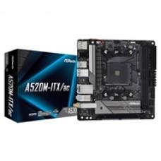 ASRock A520M-ITX/ac AMD Socket AM4 Mini ITX HDMI/DisplayPort USB 3.2 Gen1 M.2 WiFi Motherboard