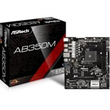 ASRock AB350M AMD Socket AM4 Ryzen Micro ATX DDR4 M.2/Ultra M.2 USB 3.0 Motherboard