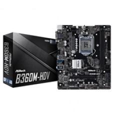 ASRock B360M-HDV Intel Socket 1151 Micro ATX VGA/DVI-D/HDMI DDR4 USB 3.1 M.2 Motherboard