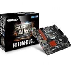 ASRock H110M-DVS R3.0 Intel Socket 1151 Micro ATX VGA/DVI-D DDR4 USB 3.1 Motherboard