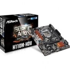 ASRock H110M-HDV Intel Socket 1151 Micro ATX DDR4 VGA/DVI-D/HDMI USB 3.0 Motherboard