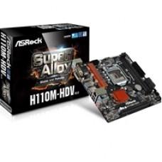 ASRock H110M-HDV R3.0 Intel Socket 1151 Micro ATX DDR4 D-Sub/DVI-D/HDMI USB 3.0 Motherboard