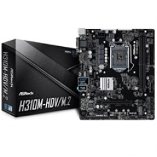 ASRock H310M-HDV/M.2 Intel Socket 1151 Coffee Lake Micro ATX DDR4 D-Sub/DVI-D/HDMI M.2 USB 3.1 Motherboard