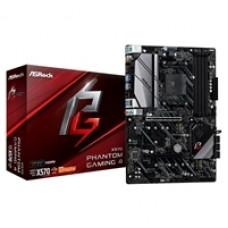 ASRock X570 Phantom Gaming 4 AMD Socket AM4 ATX HDMI/DisplayPort Dual M.2 USB 3.2 Motherboard