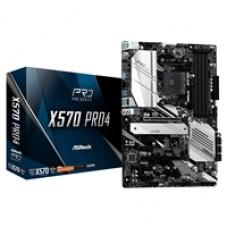 ASRock X570 PRO4 AMD Socket AM4 ATX DDR4 HDMI/DisplayPort Dual M.2 USB C 3.2 Motherboard