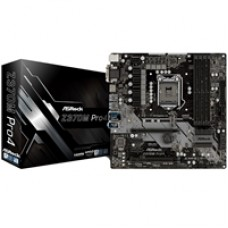 ASRock Z370M Pro4 Intel Socket 1151 Coffee Lake Micro ATX DDR4 D-Sub/DVI-D/HDMI Ultra M.2 USB 3.1 Motherboard