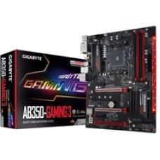 Gigabyte GA-AB350-GAMING 3 (rev. 1.0) AMD Socket AM4 Ryzen ATX DDR4 DVI-D/HDMI M.2 USB 3.1 Motherboard