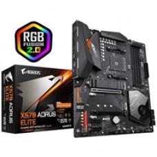 Gigabyte X570 AORUS ELITE AMD Socket AM4 ATX HDMI DDR4 Dual PCIe 4.0 M.2 USB 3.2 RGB Motherboard