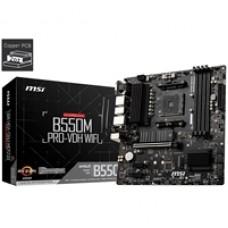 MSI B550M PRO-VDH WIFI AMD Socket AM4 Micro ATX HDMI/DVI/VGA Dual M.2 Motherboard
