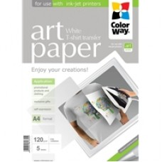 ColorWay Art T-shirt transfer Paper Light 120g/m? A4 5 Sheets