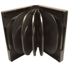 12 Way Black Standard DVD Case