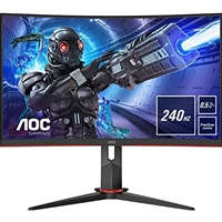 "AOC C27G2ZU/BK 27"" LED Widescreen HDMI/ DisplayPort Freesync 0.5ms Speakers Frameless Curved Monitor"