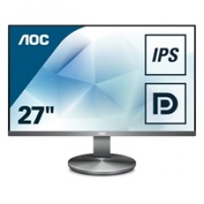"AOC I2790VQ/BT 27"" WLED Widescreen Full HD IPS VGA/HDMI/DisplayPort Silver Professional Monitor"