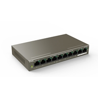 Tenda TEF1110P-8-102W 8 Port 10/100Mbps +2 Gigabit Port PoE Switch