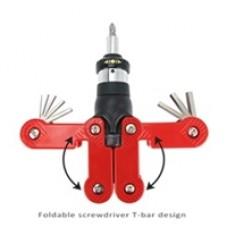 Sprotek 15-in-1 Ratchet Screwdriver Set - With Hex, Philips, Torx Bits