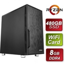 Antec AMD 3400G 3.7GHZ Quad Core 8GB RAM 480GB SSD with Wireless Card - Pre-Built System