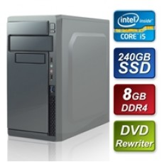 Intel i5 8400 2.8GHz Six Core 8GB RAM 240GB SSD DVDRW 80 Cert PSU PreBuilt System