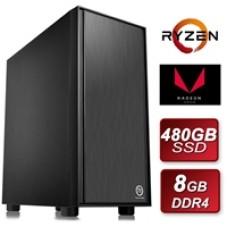 Thermaltake AMD Ryzen 3200G 3.6GHZ Quad Core 8GB DDR4 RAM 480GB SSD with Wireless Card Pre-Built System