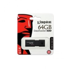 Kingston DataTraveler 100 G3 64GB USB 3.0 Black USB Flash Drive