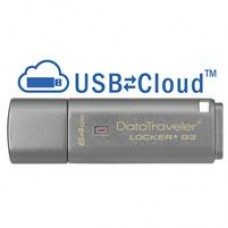 Kingston DataTraveler Locker+ G3 64GB USB 3.0 Silver 256 AES Encrypted USB Flash Drive