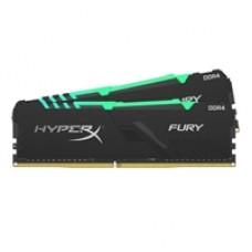 Kingston HyperX Fury RGB 16GB Black Heatsink (2x8GB) DDR4 2666MHz DIMM System Memory