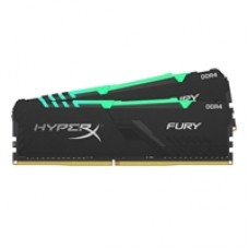 Kingston HyperX Fury RGB 16GB Black Heatsink (2x8GB) DDR4 3000MHz DIMM System Memory
