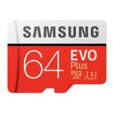 Samsung EVO Plus 64GB Micro SDHC Class 10 Flash Card with Adapter