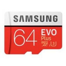 Samsung EVO Plus 64GB Micro SDHC Class 10 Flash Card with Adapter