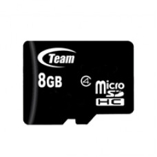 Team 8GB Micro SDHC Class 4 Flash Card with Adapter