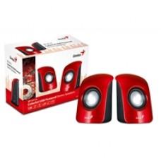 Genius SP-U115 Stereo USB Powered Speakers Red