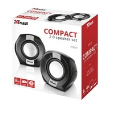 Trust Polo Compact Black Stereo Speakers