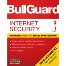 Bullguard Internet Security 2019 1Year/3PC Windows Only Single Soft Box English
