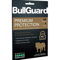 Bullguard Premium Protection 2019 1 Year/10 Device Sngle Multi Device Retail License English