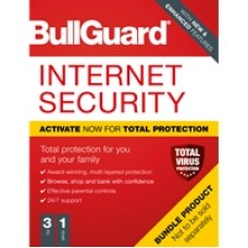 Bullguard Internet Security 2020 1Year/3PC Windows Only 25 pack Soft Box English
