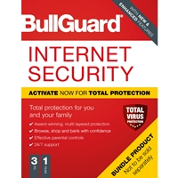 Bullguard Internet Security 2020 1Year/3PC Windows Only Single Soft Box English