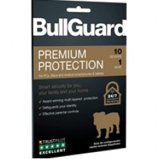 Bullguard Premium Protection 2020 1 Year/10 Device 10 Pack Multi Device Retail Licence English